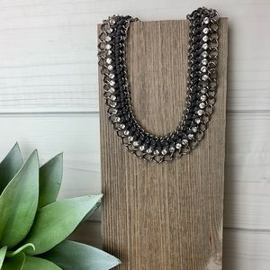 Faux Suede Crystal Grand Entrance Necklace